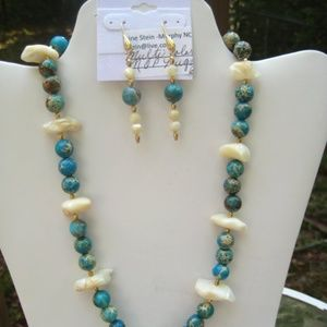 Necklace Set- Mother Of Pearl and Jaspers
